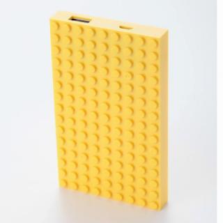 [4,200mAh]レゴ型モバイルバッテリー Power brick イエロー