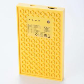 [4,200mAh]レゴ型モバイルバッテリー Power brick イエロー_1
