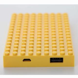 [4,200mAh]レゴ型モバイルバッテリー Power brick イエロー_2