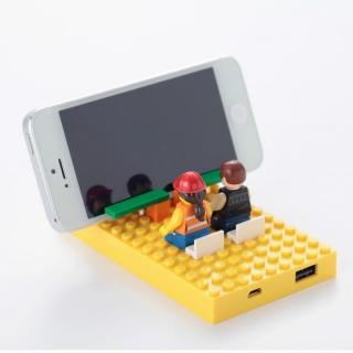 [4,200mAh]レゴ型モバイルバッテリー Power brick イエロー_5