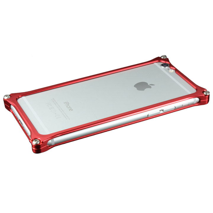 【iPhone6ケース】ギルドデザイン ソリッドバンパー レッド iPhone 6s/6バンパー_0