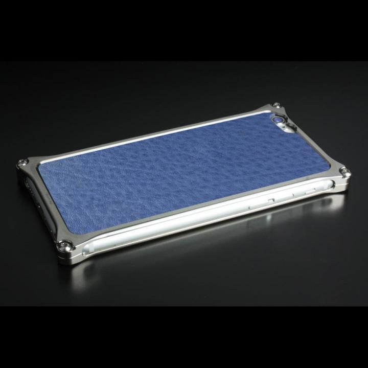 【iPhone6ケース】ギルドデザイン レザーパネル ソリッドバンパー対応 ブルー iPhone 6s/6背面パネル_0