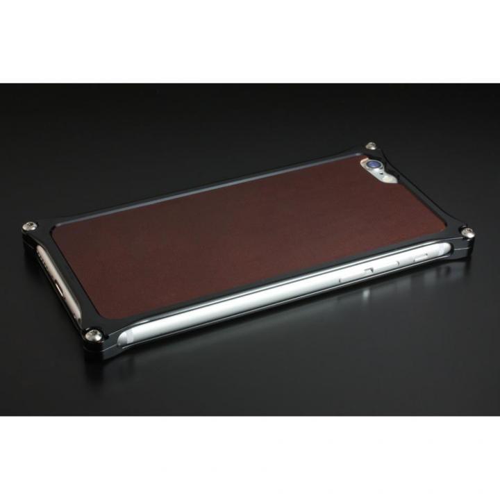 iPhone6 ケース ギルドデザイン レザーパネル ソリッドバンパー対応 ブラウン iPhone 6s/6背面パネル_0