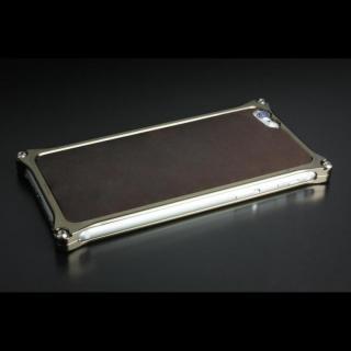 ギルドデザイン レザーパネル ソリッドバンパー対応 ダークブラウン iPhone 6s/6背面パネル