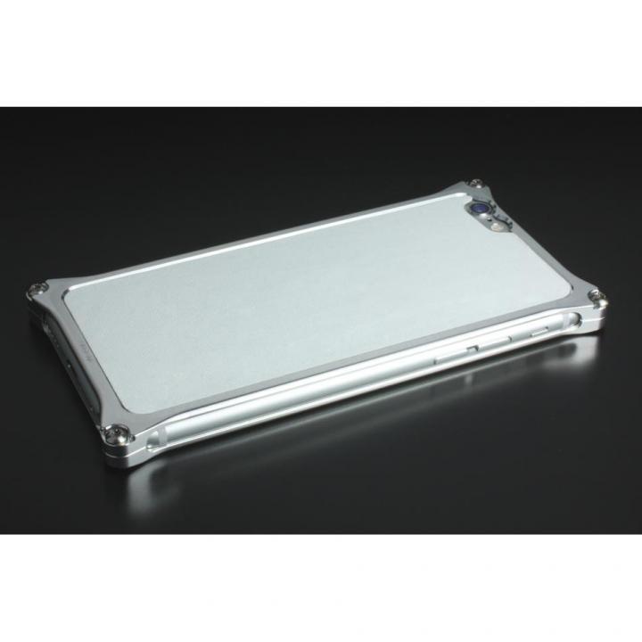 iPhone6 ケース ギルドデザイン レザーパネル ソリッドバンパー対応 ホワイト iPhone 6s/6背面パネル_0