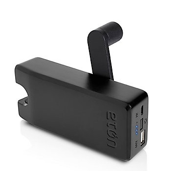[4000mAh]手回し充電機能付きUSBポータブル充電器 BoostTurbine ブラック microUSB_0