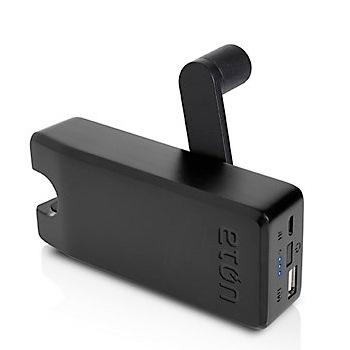 [4000mAh]手回し充電機能付きUSBポータブル充電器 BoostTurbine ブラック microUSB
