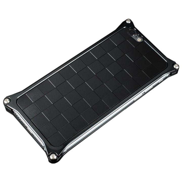 ギルドデザイン アルミパネル市松 ソリッドバンパー対応 ブラック iPhone 6s/6背面パネル