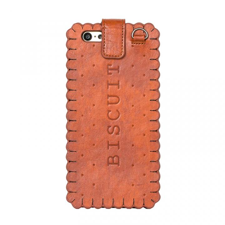 スイーツ手帳型ケース ビスケット キャメル iPhone 6ケース