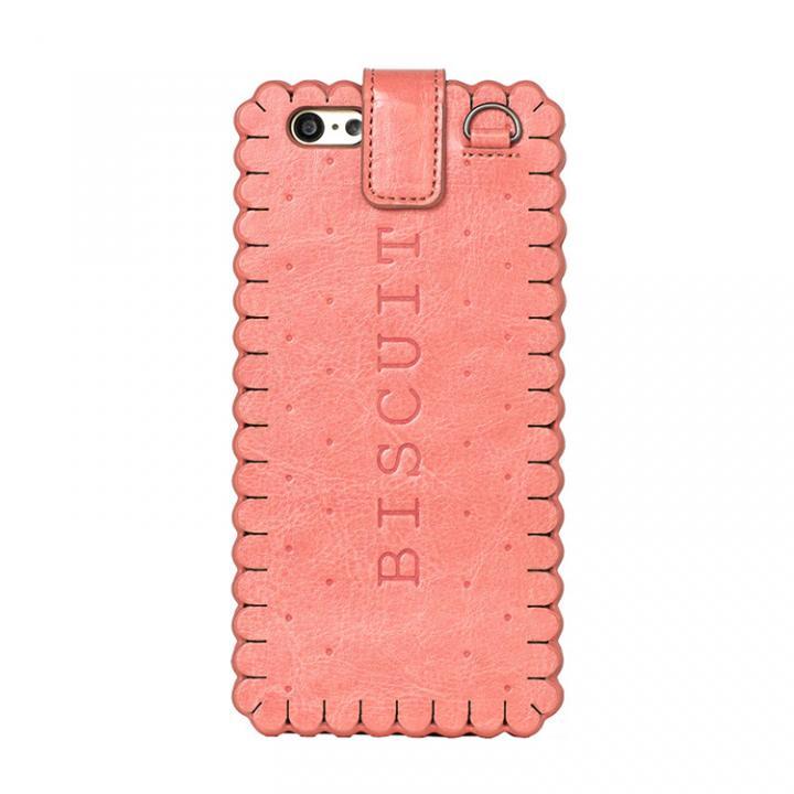 スイーツ手帳型ケース ビスケット ピンク iPhone 6ケース