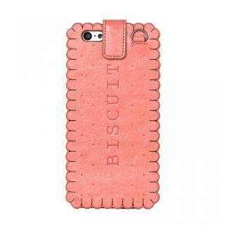 【2月中旬】スイーツ手帳型ケース ビスケット ピンク iPhone 6ケース