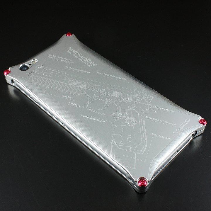 【iPhone6ケース】BIOHAZARD 限定ソリッドケース iPhone 6s/6 サムライエッジ バリーモデル シルバー_0