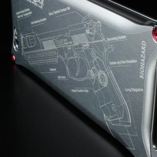 【iPhone6ケース】BIOHAZARD 限定ソリッドケース iPhone 6s/6 サムライエッジ バリーモデル シルバー_2
