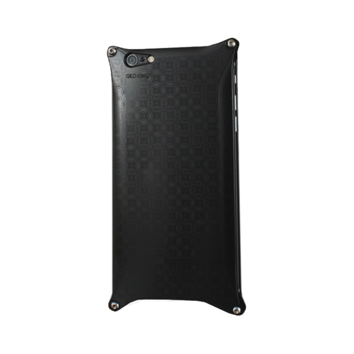 iPhone6 ケース OKOSHI-KATAGAMI 七宝 ジュラルミン削り出しケース ブラック iPhone 6s/6_0