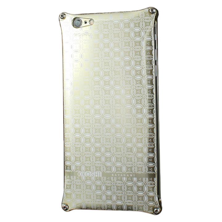 【iPhone6ケース】OKOSHI-KATAGAMI 七宝 ジュラルミン削り出しケース ゴールド iPhone 6s/6_0