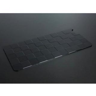 iPhone6 Plus ケース アルミパネル市松 iPhone 6s Plus/6 Plus用ソリッドバンパー専用背面パネル ブラック