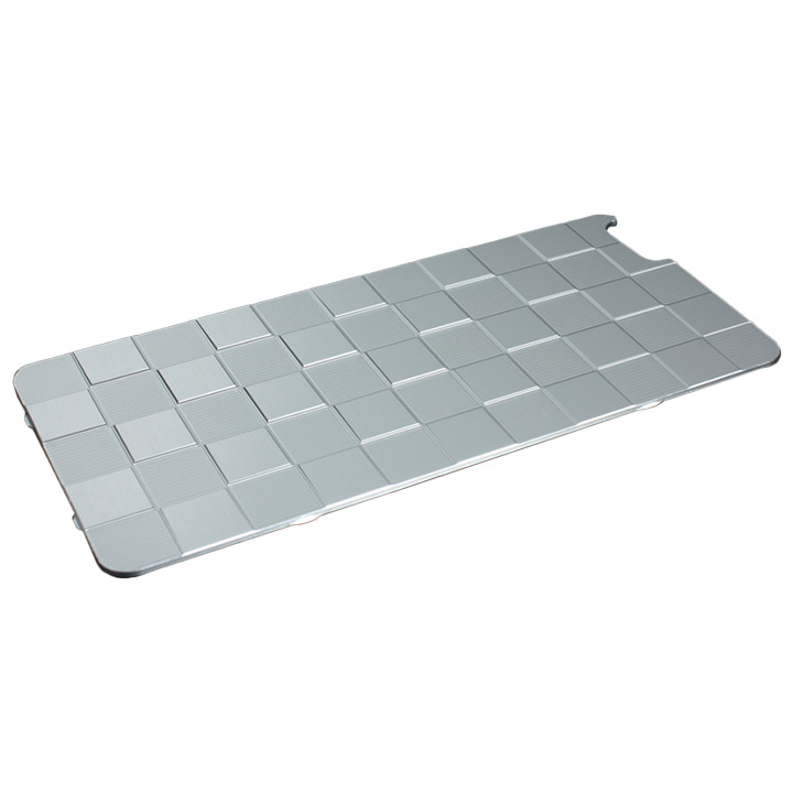 iPhone6s Plus/6 Plus ケース アルミパネル市松 iPhone 6s Plus/6 Plus用ソリッドバンパー専用背面パネル シルバー_0