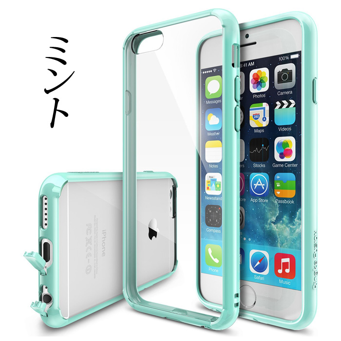iPhone6 ケース クリアな透明感あふれるケース Ringke Fusion ミント iPhone 6ケース_0