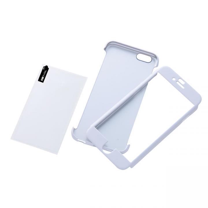 ハードコーティングケースと強化ガラス プレミアムセット パールホワイト iPhone 6ケース