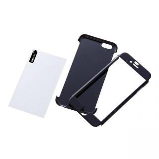 ハードコーティングケースと強化ガラス プレミアムセット ブラック iPhone 6ケース