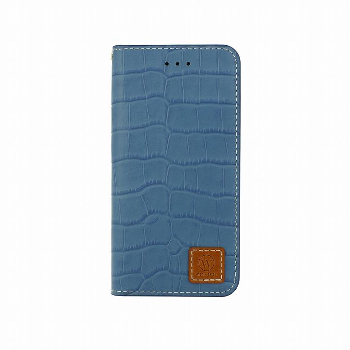 手帳型ケース DESIGNSKIN Wetherby クロコダイル型押しブルー iPhone 6ケース
