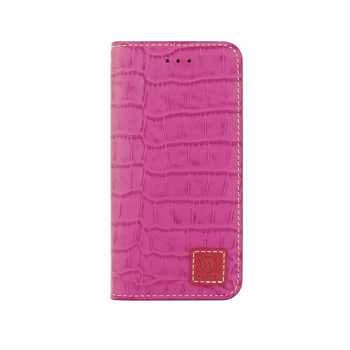 iPhone6 ケース 手帳型ケース DESIGNSKIN Wetherby クロコダイル型押しピンク iPhone 6ケース_0