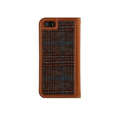 フランネル 手帳型ケース DESIGNSKIN Wetherby ブラウン iPhone 6ケース
