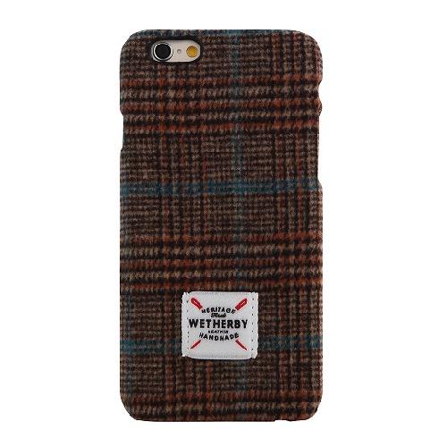 フランネル ケース DESIGNSKIN Wetherby ブラウン iPhone 6ケース