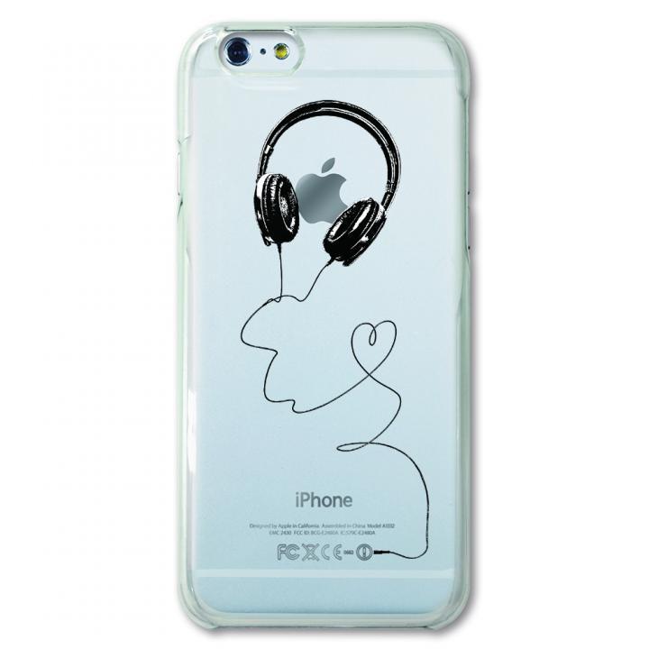 iPhone6 ケース CollaBorn デザインケース ヘッドホン iPhone 6ケース_0