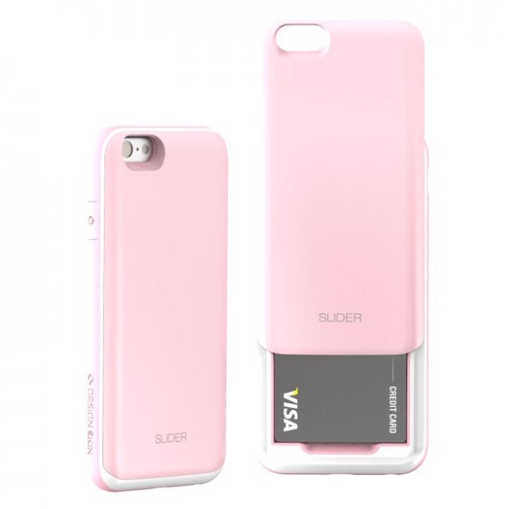 【iPhone6ケース】背面にカード収納 DESIGNSKIN SLIDER ベビィピンク iPhone 6ケース_0
