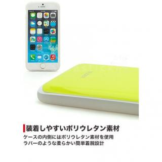 【iPhone6ケース】背面にカード収納 DESIGNSKIN SLIDER レモンイエロー iPhone 6ケース_2