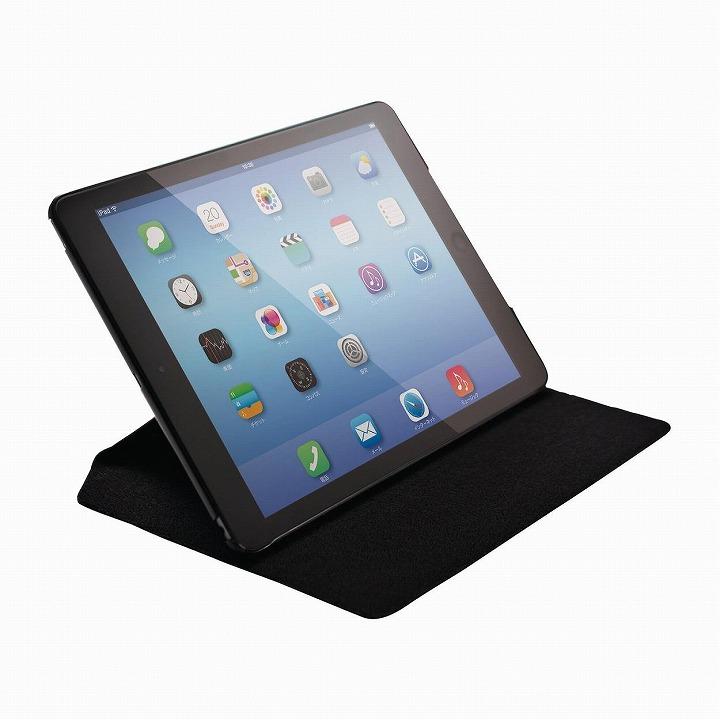 フラップカバーオールアングル 迷彩グレー iPad Air 2ケース_0