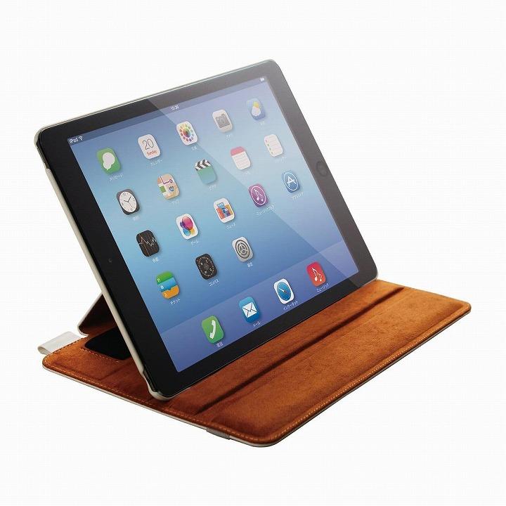 スタンド4段階調節可能 ソフトレザーケース ホワイト iPad Air 2ケース_0