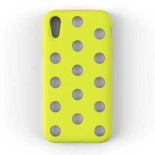 【iPhone XRケース】AndMesh Layer Case 背面ケース ライムイエロー iPhone XR