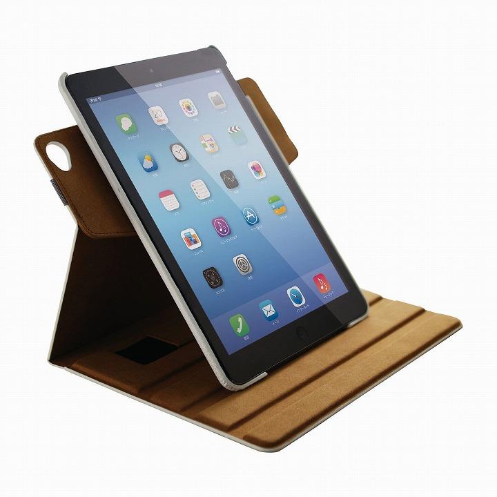 360度回転 ソフトレザーホワイト iPad Air 2ケース_0