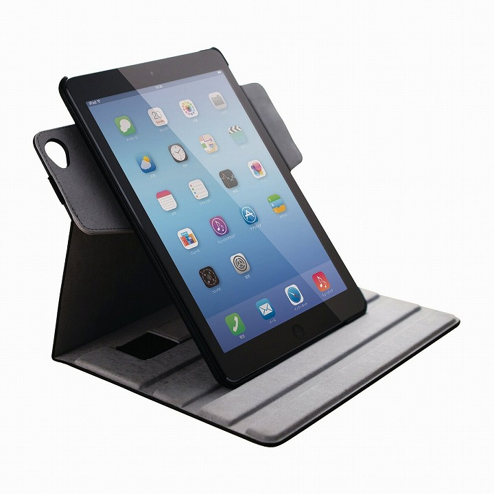 360度回転 ソフトレザーブラック iPad Air 2ケース