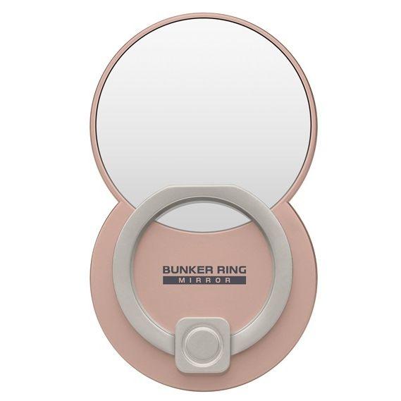 BUNKER RING Mirror ミラー スマホリング 落下防止 Multi Holder Pac ブラッシュゴールド_0
