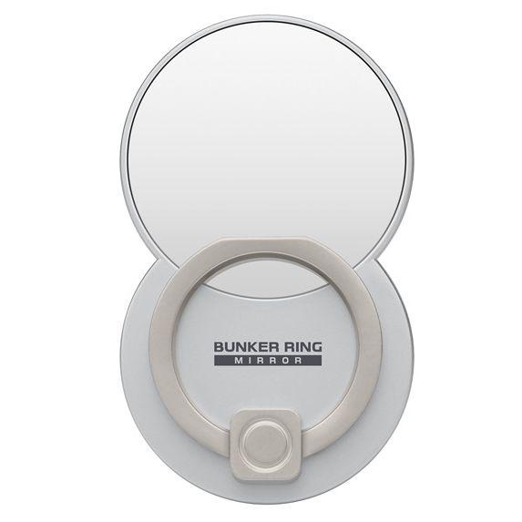 BUNKER RING Mirror ミラー スマホリング 落下防止 Multi Holder Pac シルバー_0