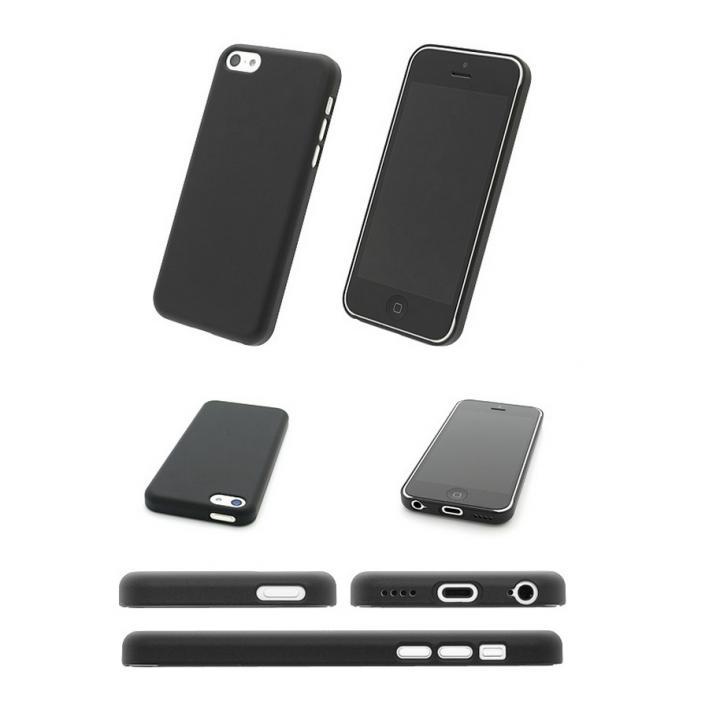 エアージャケットセット  iPhone5c (ラバーコーティングブラック)_0