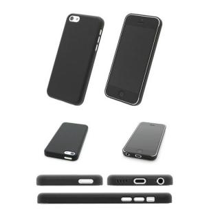 エアージャケットセット  iPhone5c (ラバーコーティングブラック)