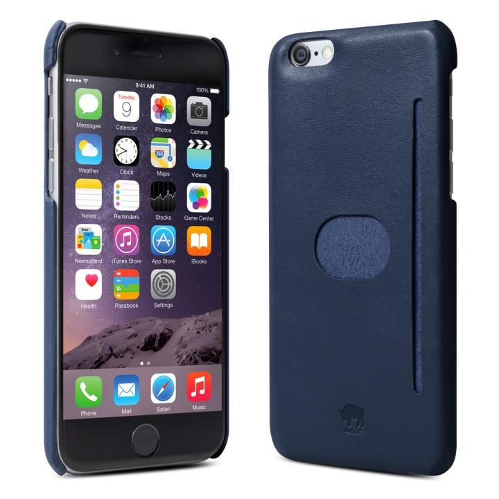 イタリア製の本革ハードケース id America Wall ST ネイビー iPhone 6ケース