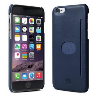 【10月下旬】イタリア製の本革ハードケース id America Wall ST ネイビー iPhone 6ケース