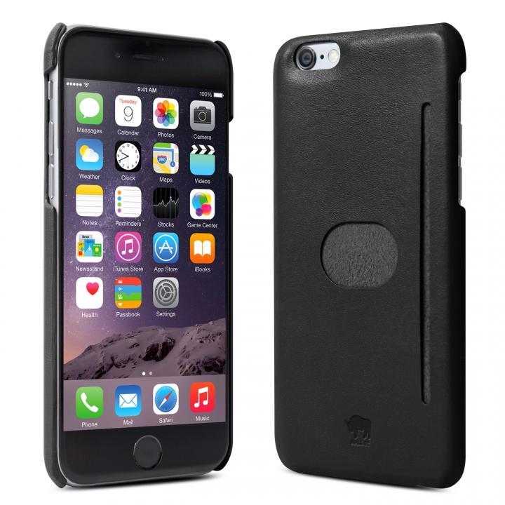 イタリア製の本革ハードケース id America Wall ST ブラック iPhone 6ケース