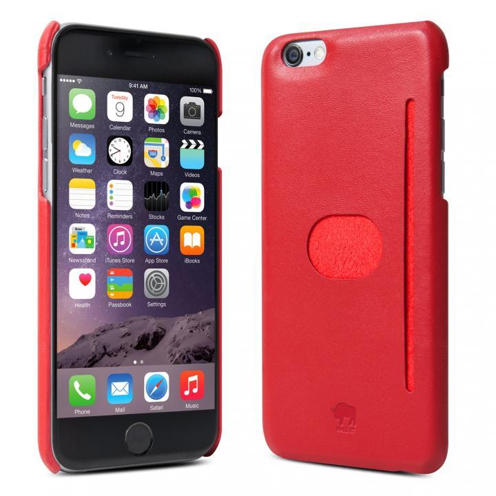 イタリア製の本革ハードケース id America Wall ST レッド iPhone 6ケース