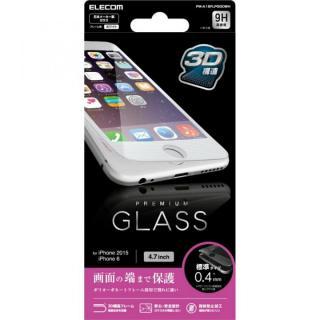 【iPhone6sフィルム】[0.40mm]液晶保護強化ガラス ホワイトフレーム iPhone 6s_1