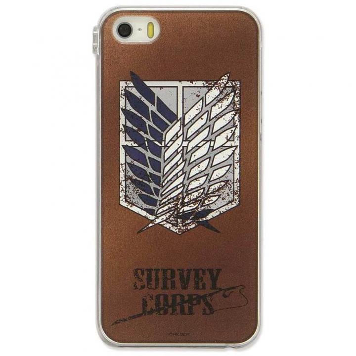 進撃の巨人 iPhone SE/5s/5対応キャラクタージャケット 調査兵団