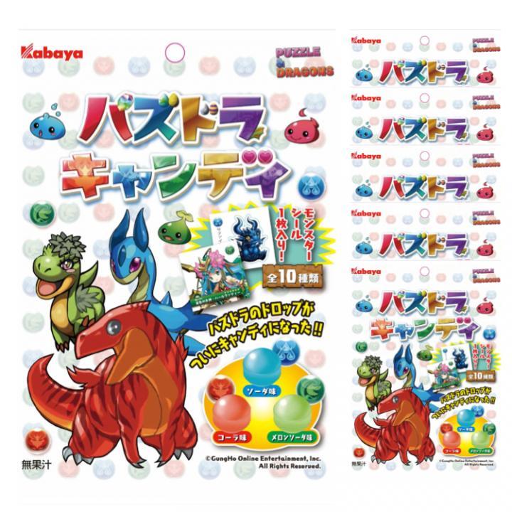 パズドラ キャンディ シール1枚入り(全10種) 60g×6袋入りセット_0