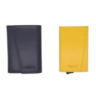 新感覚の減らす財布「ピタマグウォレット」 カバーセット ネイビー×ゴールデンイエロー