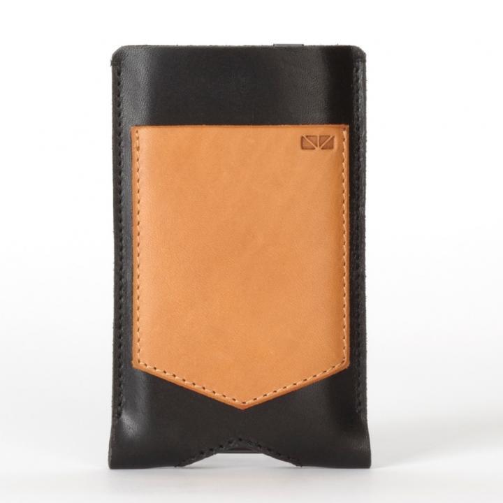 【iPhone SE/5s/5ケース】Beamhaus Pocket iPhone5s/5 ブラック/タン_0