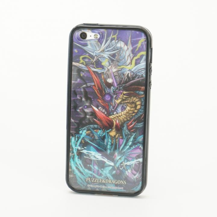 iPhone SE/5s/5 パズドラ ドラゴン 黒 Character 3D Jacket  iPhone5 ※シート2枚_0